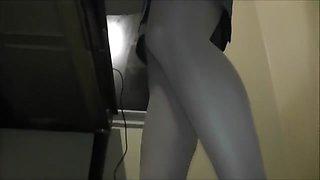 Blonde Secretary pantyhose