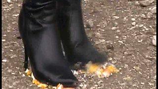 Footgirls enjoy to destroy with feet
