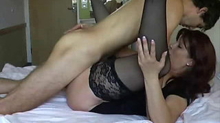 Mature taboo mom on bed