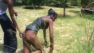 African slave gets bound up in nature