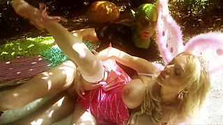 Sweet blonde fairy Antonia Deona screwed in the forest