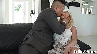Swinger Wife Kagney Linn Karter Bangs Another Guy in Front of Her Husband