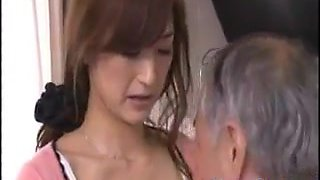 Young Girl Helps Her Step Father