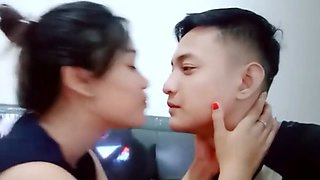 Young teen hot kissing