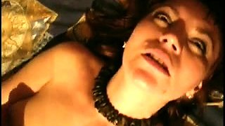 Slutty wife in stockings gets drilled rough and facialized