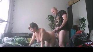 Fabulous private hardcore, nerdy, bedroom porn scene