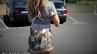 Flashing Nude On A Public Parking