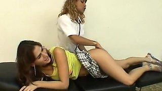 Mary Castro & Cindy Vegas lesbian nurse asslick