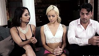 A Threeway With a Hot Babysitter