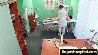 European patient enjoys doctors erotic exam