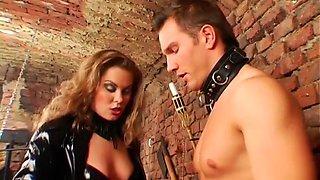 hot babe dominates her slave segment