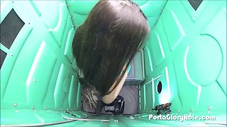 Sexy amateur chicks all sucking dicks in portable pottys