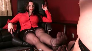 black stocking domination 1