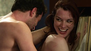 Lovely Redhead Stoya receives hot banging after office meeting