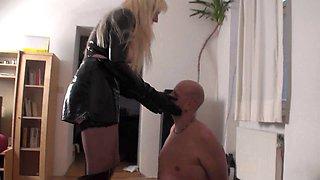 Femdom Ladies slap slaves