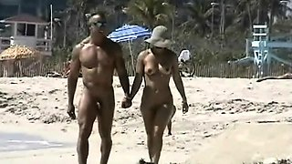 Exquisite nude beach voyeur spy cam video