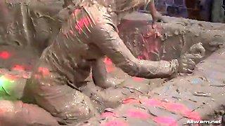 hardcore mud wrestling video