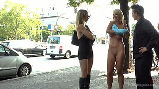 Disgraced whore Luci Angel is punished in the public toilet
