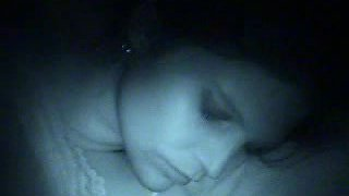 Babe in panties sucking dick in sleeping homemade porn video