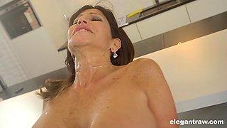 Mature maid Tara Holiday cannot wait to make BBC sitff