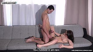 Lucky guy gets to bang Wendy Moon until he cums on her back