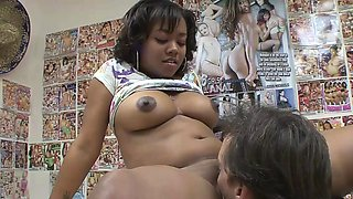 Melody is one horny ebony slut