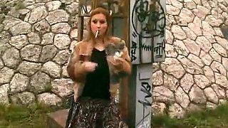Horny homemade Outdoor, Smoking sex video