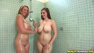 Big Wet Boobs In The Shower