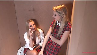 Daniell maye chloe toy smoking schoolgirls