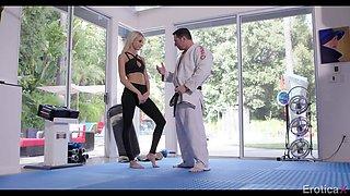 karate training finally leads to sensual love making