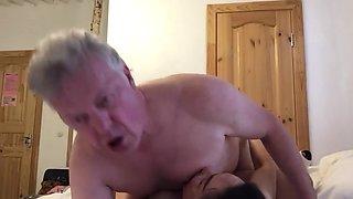 Thai Big Tit MILF fucking British Bull passionately