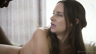 Sensual brunette Cassidy Klein tries to cope with massive fat dick