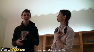 Two Dudes Double Team Their Geeky Classmate