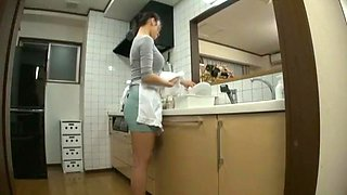 Amazing Japanese slut Reiko Kobayakawa in Horny Kitchen, MILFs JAV clip