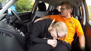 Pretty Marketing Student Satin Spank Banged In The Car