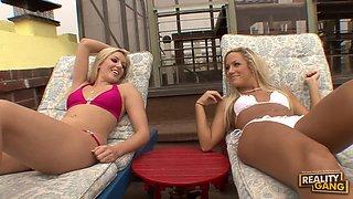 Blonde Vixens Kylee Reese and Kara Novak Share a Dick in FFM Threeway