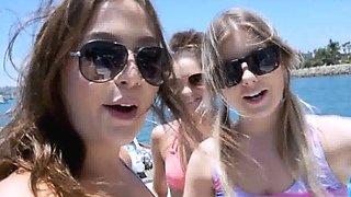Bikini BFFs moby dicked on a boat