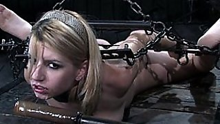 Beautiful Blonde Slut In Seriously Kinky Bondage Action