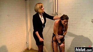 Domina gets to fuck her slave girl